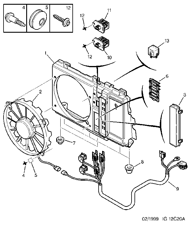 engine motor driven fan tube